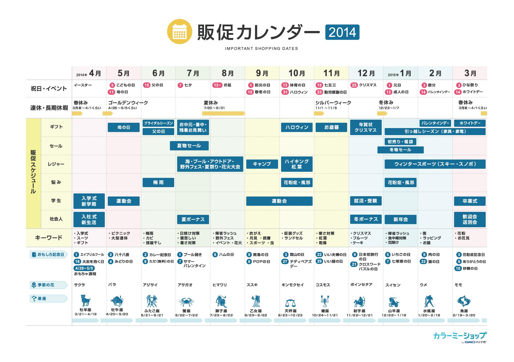 カレンダー カレンダー 2015 年間 ダウンロード : お客さんの心をつかむ販促 ...