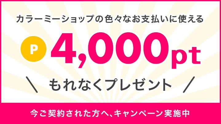 いまなら4000ポイントプレゼントキャンペーン