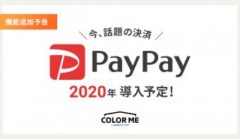 《予告》2020年 カラーミーショップで新決済機能「PayPay」の導入が決定しました!