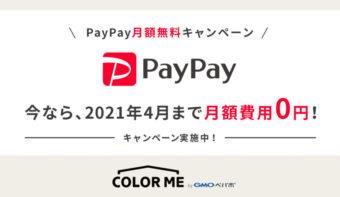 【PayPay】月額費用2,000円が《最大6カ月分0円に!》新規導入キャンペーン