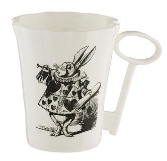 アリスロンドンのイギリス輸入雑貨不思議の国のアリス白うさぎのマグカップ