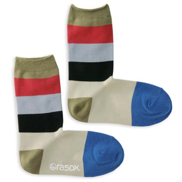 Rasoxの締めつけないビビッドなL字型直角靴下