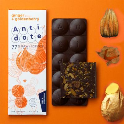 おしゃれな見た目とフレーバーのオーストラリアAntidoteのデザインチョコレート