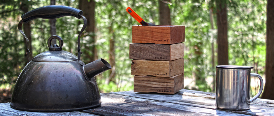 コーヒーの木製ドリッパーCanadianoは樺と桜とクルミと白樫の4種類