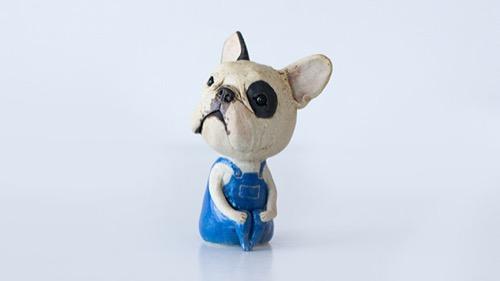 Divertireで買える陶芸作家田崎勧のフレンチブルドッグの置物