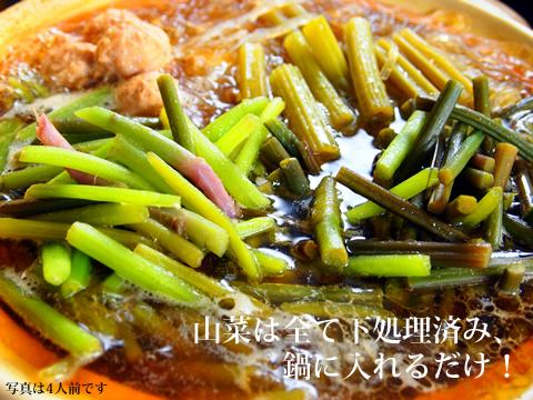 あきた森の宅配便の天然山菜鍋セット